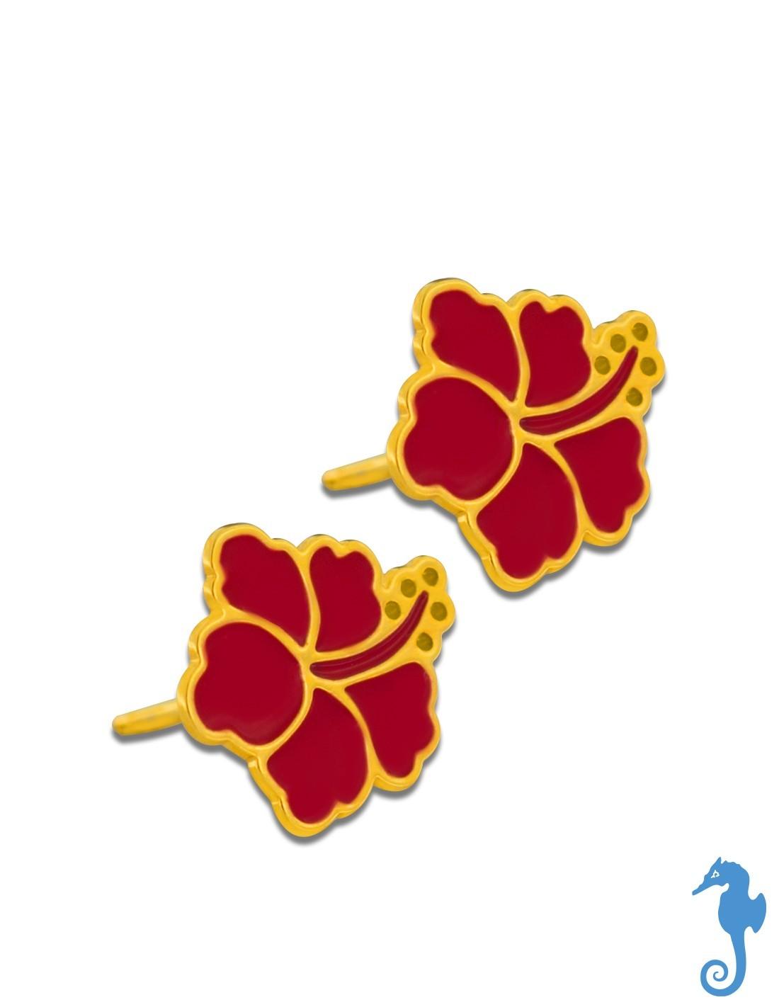 Boucles d'oreilles licorne, Or jaune 9K & émail - Ocarat